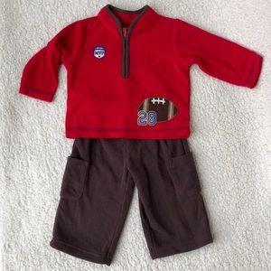Carter's Fleece quarter zip top  & pant outfit